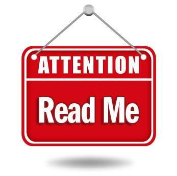 read me sign