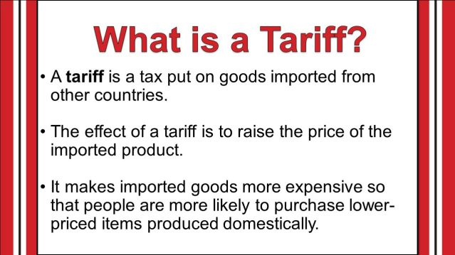 It makes imported goods more expensive so that people are more likely to purchase lower-priced items produced domestically.