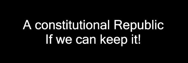 a constitutional republic
