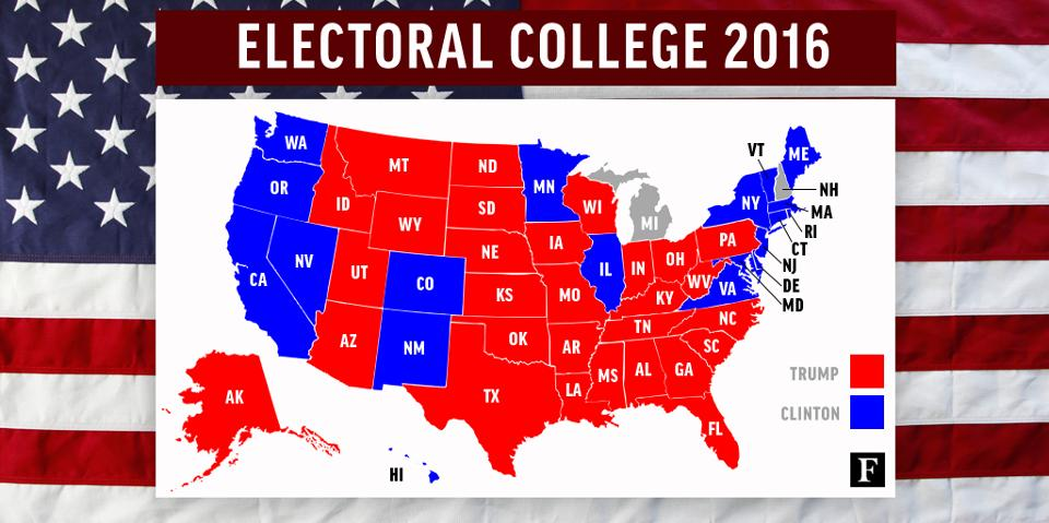 electorial college 2016 map