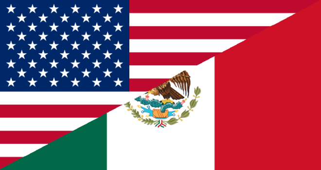 US-Mexico Flags