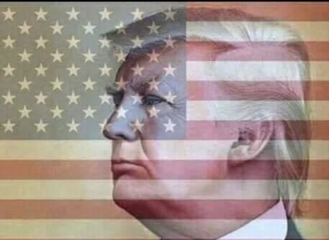 trump flag background