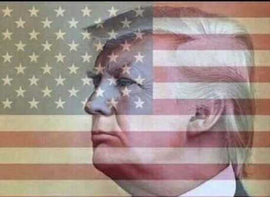 trump flag background
